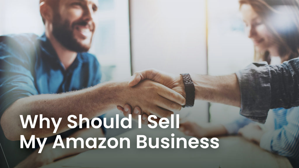 two people shaking hands after deciding to sell amazon business