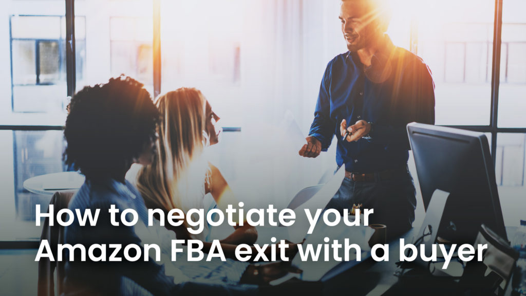 people negotiating an Amazon sale deal